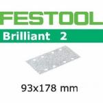 Шлифовальные полоски Festool Фестул Brilliant 2, STF 93x178/8 P220 BR2/100