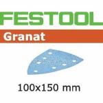 Шлифовальные листы Festool Granat, STF DELTA/7 P150 GR/100