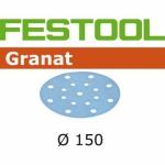 Шлифовальные круги Granat StickFix Ø150 мм, STF D150/16 P400 GR/100, Festool Фестул