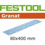 Шлифовальные полоски Festool Фестул Granat, STF 80x400 P80 GR/50