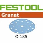 Шлифовальные круги Festool Фестул Granat StickFix Ø185 мм, STF D185/16 P40 GR/50