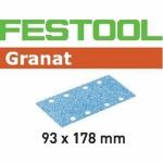 Шлифовальные полоски Granat, STF 93X178 P400 GR/100, Festool Фестул