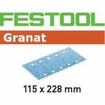 Шлифовальные полоски Granat, STF 115X228 P400 GR/100, Festool Фестул
