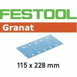 Шлифовальные полоски Granat, STF 115X228 P220 GR/100, Festool Фестул