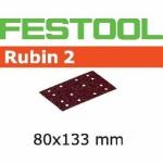 Шлифовальные полоски Rubin 2, STF 80X133 P80 RU2/50, Festool Фестул