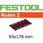 Шлифовальные полоски Festool Rubin 2, STF 93X178/8 P220 RU2/50