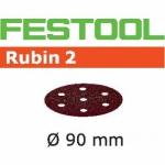 Шлифовальные круги Festool Rubin 2, STF D90/6 P100 RU2/50