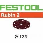Шлифовальные круги Festool Rubin 2, STF D125/90 P220 RU2/50