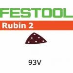 Шлифовальные листы Rubin 2, STF V93/6 P80 RU2/50, Festool Фестул
