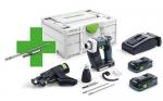 Акция Аккумуляторный шуруповёрт для гипсокартона DURADRIVE DWC 18-2500 HPC 4,0 I-Plus + Держатель битов и бит Festool, Фестул