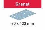 Шлифовальные полоски Granat, STF 80x133 P80 GR/10, Festool Фестул