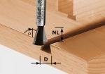 Фреза Festool Фестул HW S8 D14,3/13,5/15° ласточкин хвост с подрезными ножами, хвостовик 8 мм