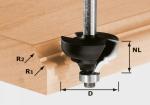 Многопрофильная фреза HW S8 D36,7/R6/R6, хвостовик 8 мм, Festool Фестул