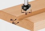 Профильная фреза Festool HW S8 D19/R5/R4, хвостовик 8 мм