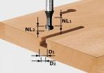 Фреза HW S8 D10,5/NL13 для выборки Т-образных пазов, хвостовик 8 мм, Festool Фестул