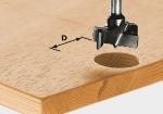 Фреза HW S8 D25 для изготовления гнезд под фурнитуру, хвостовик 8 мм, Festool Фестул
