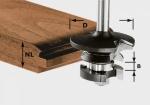 Гребневая контр-профильная фреза HW S8 D43/21 A/KL, хвостовик 8 мм, Festool Фестул