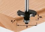 Профильная радиальная скругляющая фреза Festool HW S8 D42/R6, хвостовик 8 мм