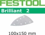 Шлифовальные листы Festool Brilliant 2, STF DELTA/7 P400 BR2/100
