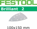 Шлифовальные листы Festool Brilliant 2, STF DELTA/7 P100 BR2/100