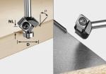 Фреза Festool S8 HW 45° D27 12x12 KL для профилирования фасок со сменными ножами, хвостовик 8 мм