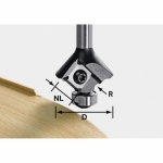 Скругляющая фреза Festool HW со сменными ножами, S8 HW R1 D28 KL12,7OFK
