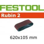 Шлифовальные ленты Festool Rubin 2, L620X105-P100 RU2/10