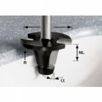 Фреза Festool для снятия фасок со скругляющей кромкой HW с хвостовиком 12 мм, HW R6.35/25/6° ss S12