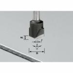 Фреза Festool для выборки V- образного паза HW с хвостовиком 8 мм, HW S8 D18-135° (Alu)
