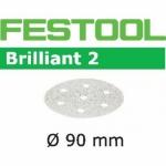 Шлифовальные круги Festool Brilliant 2, STF D90/6 P320 BR2/100