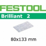 Шлифовальные полоски Festool Brilliant 2, STF 80x133 P80 BR2/50
