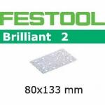 Шлифовальные полоски Festool Brilliant 2, STF 80x133 P400 BR2/100