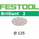 Шлифовальные круги Festool Фестул Brilliant 2, STF D125/90 P150 BR2/100
