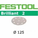 Шлифовальные круги Festool Фестул Brilliant 2, STF D125/90 P320 BR2/100
