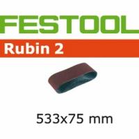 Шлифовальные ленты Festool Фестул Rubin 2, L533X 75-P100 RU2/10